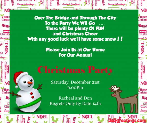 Christmas Party Invitation Ideas Christmas Celebration All About