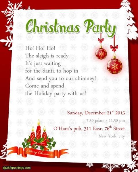 Christmas Party Invitation Wor Lovely Christmas Party Invitation
