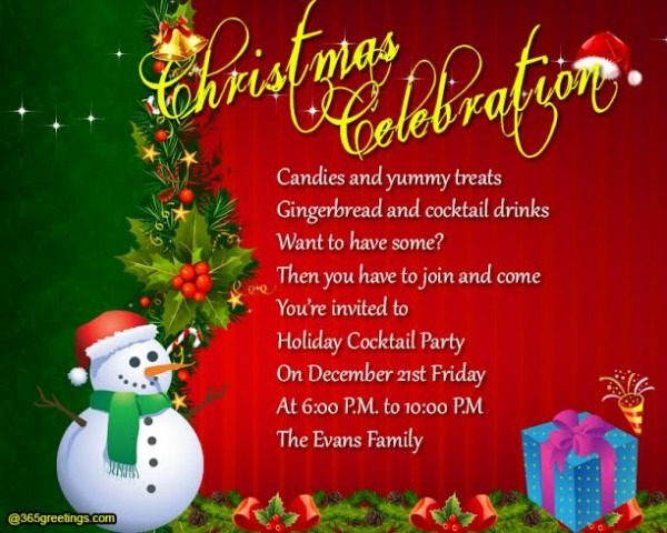 Message For Christmas Party