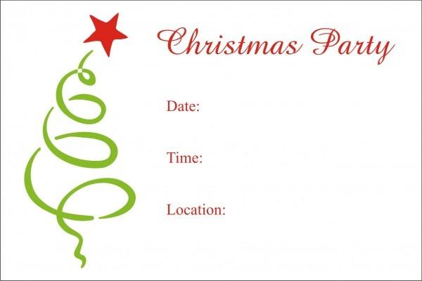 Free Christmas Invitation Templates Beautiful Free Printable
