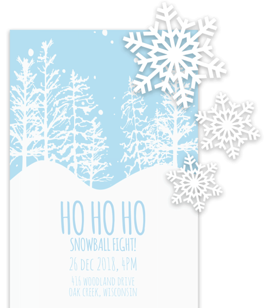 Free Printable Christmas Invitation Templates In Word!