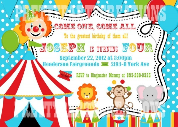 Circus Party Invitations Landscaping Party Invitation Template