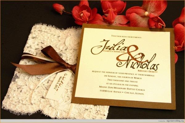 Lovely Civil Wedding Invitation Sample