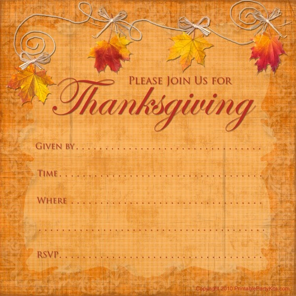 Clip Art For Thanksgiving Invitations – Festival Collections