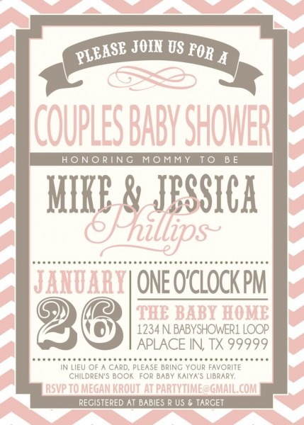 Non Traditional Baby Shower Invitations