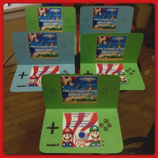 Wonderful Of Mario Birthday Party Invitations Super Invitation