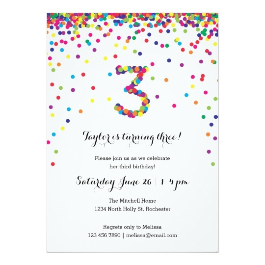 Rd Birthday Invitation Cards Best Of Rd Birthday Party Supplies