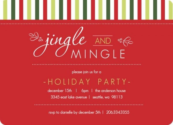 Christmas Party Invitation Wording Templates Vintage Holiday Party
