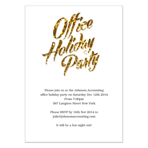 Corporate Holiday Party Invitations Simple Corporate Holiday Party