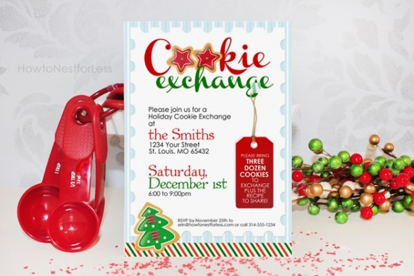 Cookie Exchange Party Free Unique Cookie Party Invitations Free
