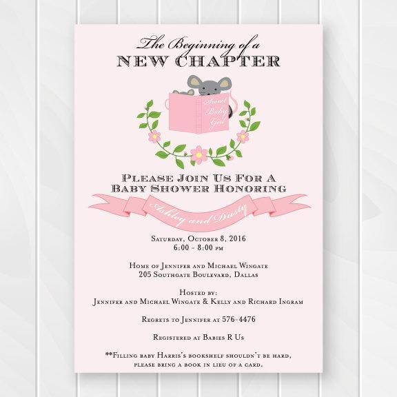 Satisfying Book Baby Shower Invitations 7