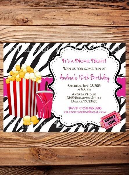 Cinema Childrens Activity Party Invitations Cinema Party