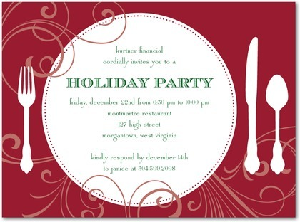 Work Holiday Party Invitations Work Holiday Party Invitations