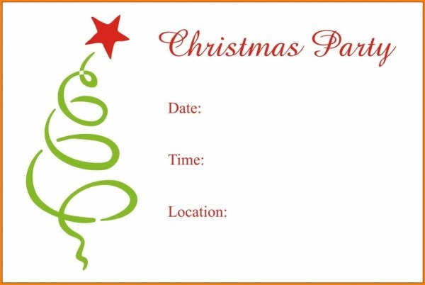 Christmas Party Invitation Templates Word 2007christmas Template
