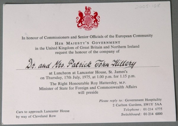 Lunch Invitation, From Uk Government