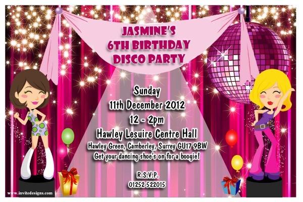 Disco Party Invitations Inspirational Custom Disco Party