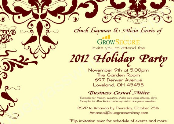 Custom Corporate Holiday Party Great Company Holiday Party