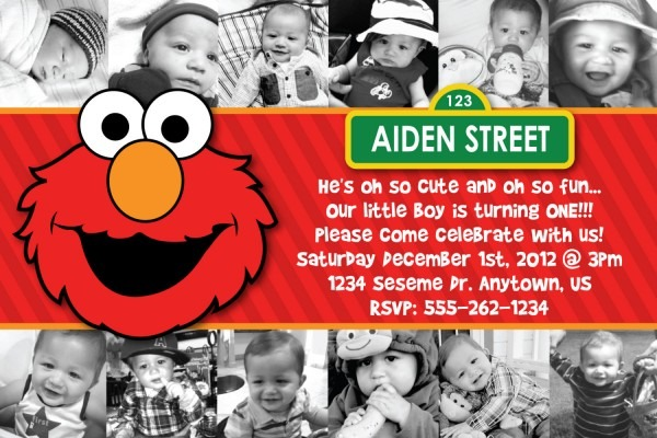 Custom Elmo Birthday Invitations Awesome With Custom Elmo Birthday
