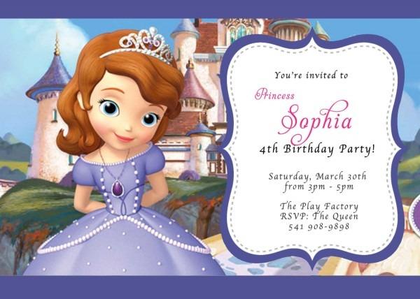 Custom Photo Invitations Disney Unique Princess Sofia Birthday