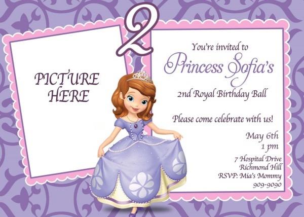 Custom Photo Invitations Sofia The Amazing Free Sofia The First