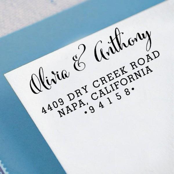 Custom Return Address Stamp, Self Inking Address Stamp