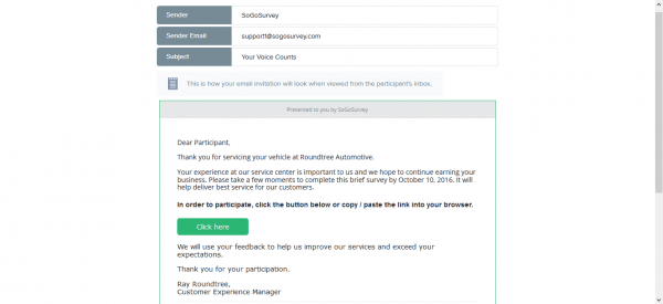 Launch A Survey Via Email With Sogosurvey