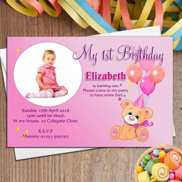 Invitation Template  Customized First Birthday Invitations