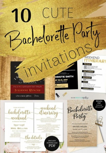 10 Ridiculously Cute Bachelorette Party Invitations You Can Print