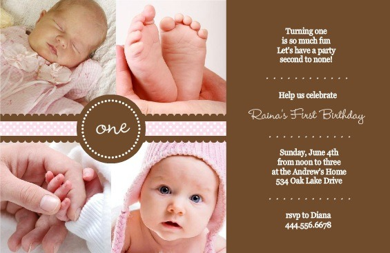 Cute First Birthday Invitation Wording Best With Cute First