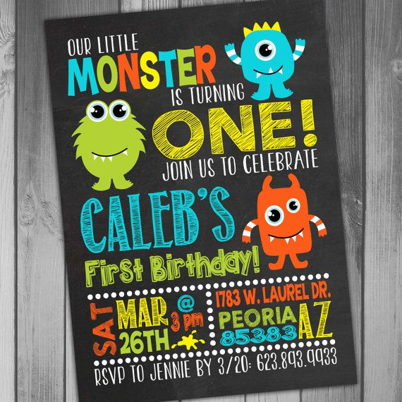 Monster Birthday I Trend Monster Invitations Birthday