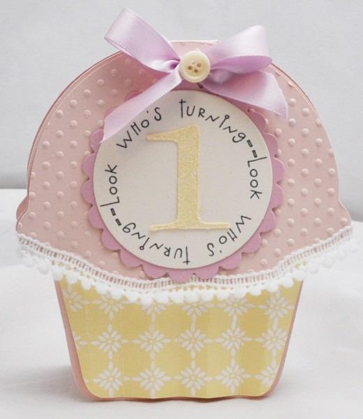 Cupcake Invitations 1st Birthday