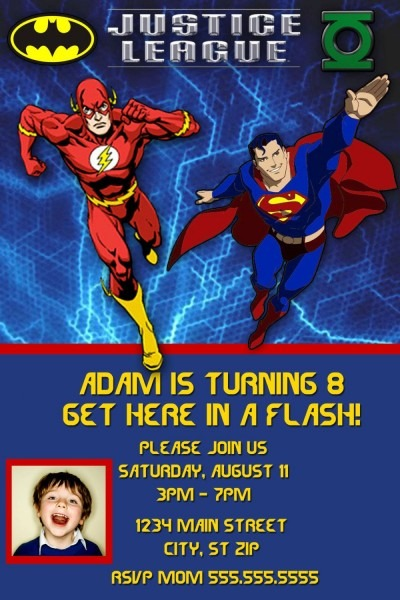Justice League Birthday Invitation By Charmingangel On Etsy