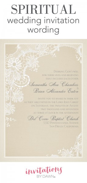 Spiritual Wedding Invitation Wording