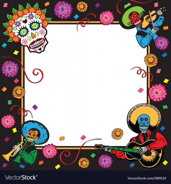 Day Of The Dead Party Invitation Royalty Free Vector Image