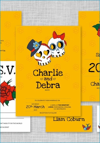 Best Of Day Of The Dead Wedding Invitations