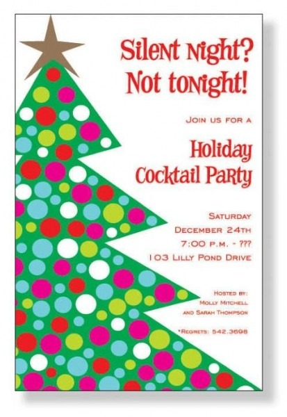 Christmas Party Invitation Wordings Sample Card Elegant Holiday