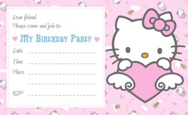 Hello Kitty St Birthday Invitation Template Hello Kitty Flower