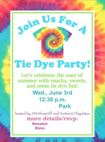 Invitation Template  Tie Dye Invitation Template Free