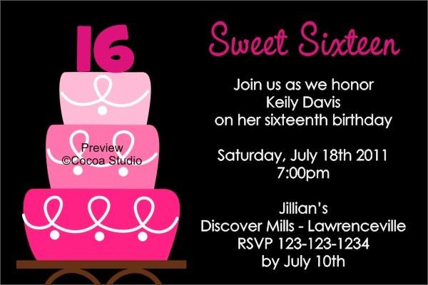Dafddededffffa Epic Sweet 16 Party Invitation Templates Free