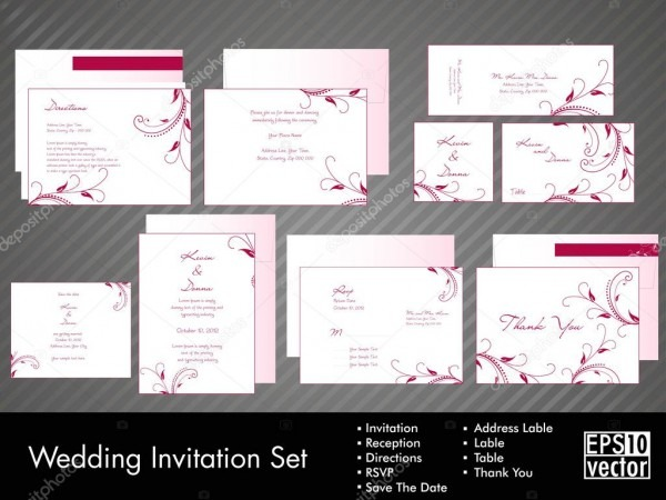 A Complete Wedding Invitation Kit With Beautiful And Elegant