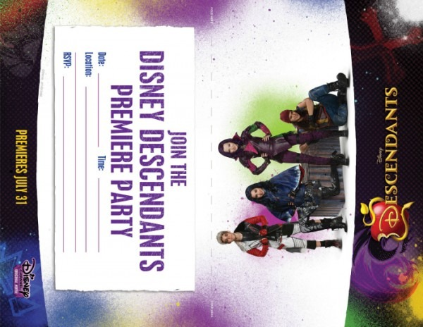 Descendants Party Invitations Printable Free Disney Descendants