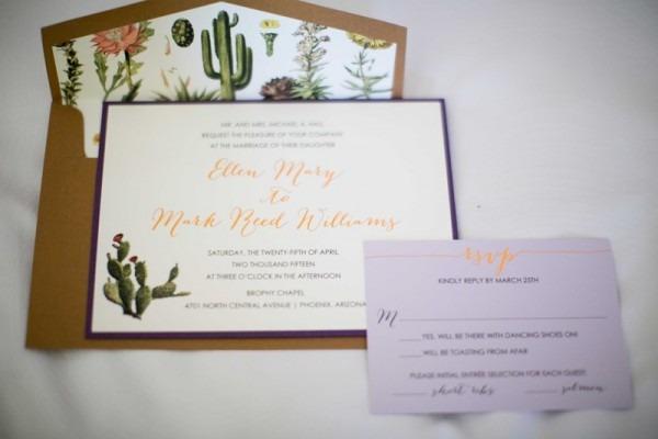 Desert Wedding Invitations Arizona Desert Themed Invitations