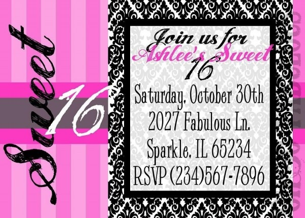 Design Printable Birthday Invitation Card With Quote Free Messages