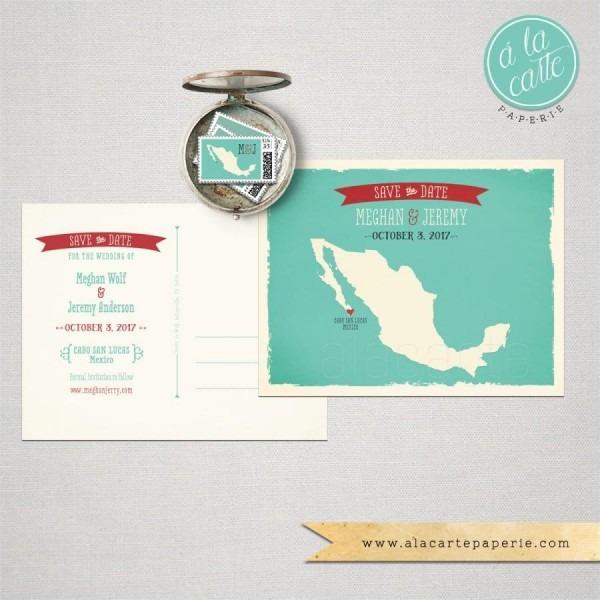 Destination Wedding Invitation Mexico Los Cabos Cabo San Lucas
