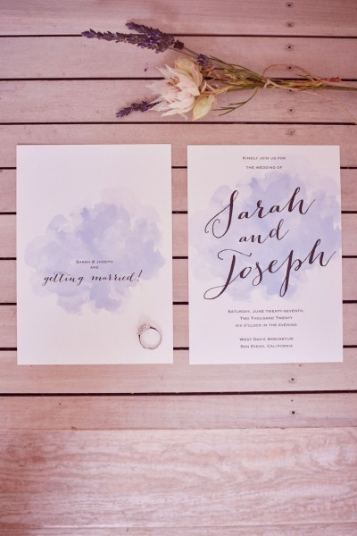 Beautiful Calligraphy And A Splash Of Watercolor For Your Wedding