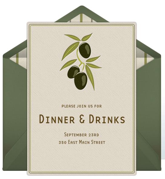 Dinner Party Invitations Vintage Dinner Party Invitation Wording