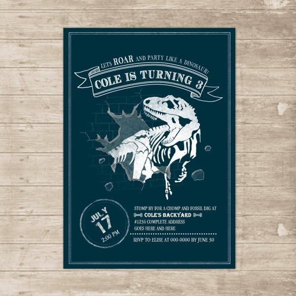 Dinosaur Birthday Invitation T