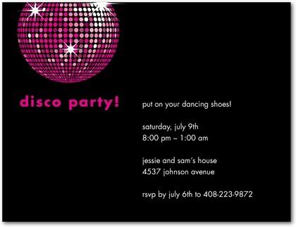 Disco Party Invitations Free Printable New Disco Birthday Party