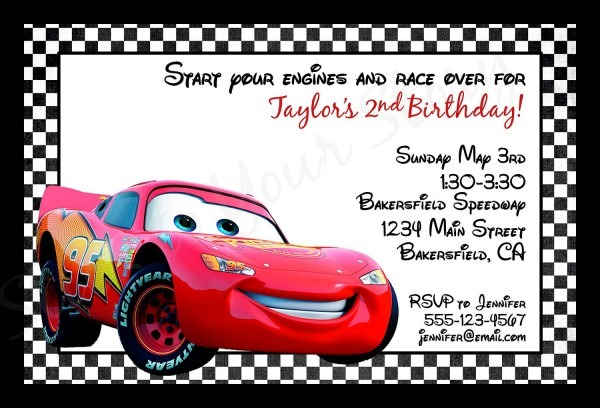 Invitation Ideas  Free Printable Disney Cars Birthday Party