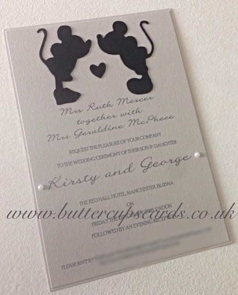 Disney Themed Wedding Invitations Disney Themed Wedding